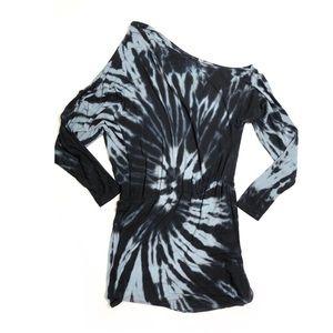 Young Fabulous & Broke tie dye dress cold shoulder